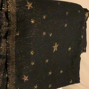 New Black and Gold Metallic Scarf